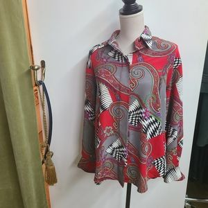 *Extra 50%OFF Jac Dale Button Down Blouse